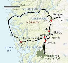 Map Of Norway Norway U0027s Fjord Country Itinerary U0026 Map Wilderness Travel