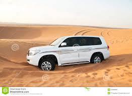 safari land cruiser white suv toyota land cruiser in desert royalty free stock image
