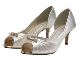 Wedding Shoes Rainbow Arabella Peep Toe Brooch Wedding Shoes