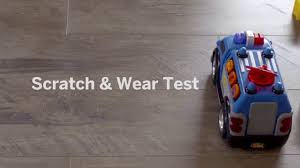 Laminate Flooring Scratch Resistant Atroguard Flooring Scratch Resistance Test Youtube
