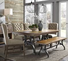 Dining Room Table Set With Bench Liberty Furniture Arlington 6 Piece Trestle Table Set With Bench