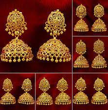 kerala style jhumka earrings indian jhumka earrings ebay