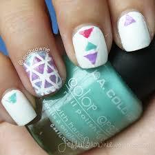 galaxy and triangles nail art u2013 jessiibrownie