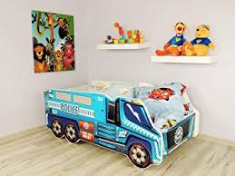 toddler children kids bed including mattress car truck police