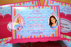 Invitation Card 7th Birthday Boy Swatches U0026 Hues Handmade With Tlc Barbie Inspired Birthday