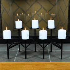 decorating minuteman intl pyramid fireplace candelabra in black