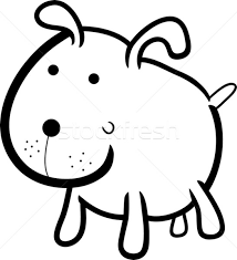 cute dog coloring book vector illustration igor zakowski