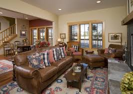 Brown Sleeper Sofa by Living Room Marvelous Contemporary Family Room Interior Near