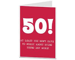 funny 50th birthday card 50 birthday card 50 card card