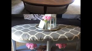 diy table ottoman tutorial youtube