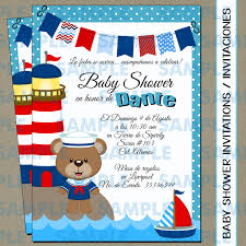 baby shower invitations baby shower party sailor bear