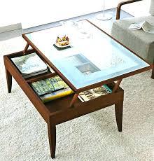 flip up coffee table industrial tobacco brown barn wood lift top coffee table lift top