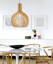 Modern Pendant Lighting Dining Room by Malmo 1 Light 350mm Pendant In Natural Wood Modern Pendants