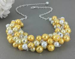 Wedding Gift On A Budget Yellow Pearl Jewelry Etsy