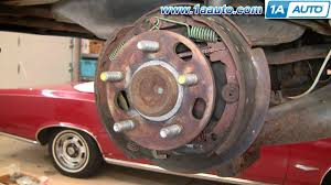 how to install replace rear drum brakes chevy cavalier pontiac