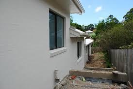 Exterior House Colour Schemes by Colorbond Surfmist Render With Black Windows New House Exteriors