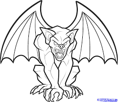 how to draw a gargoyle step by step creatures monsters free
