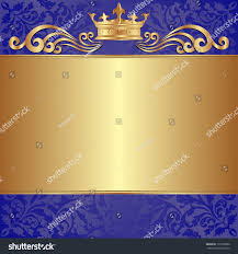 blue gold background crown ornaments stock vector 137259800