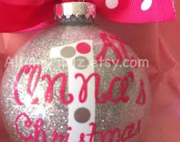 baby u0027s first christmas ornament personalized or boy