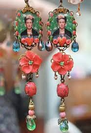 frida earrings gypsysoul frida kahlo earrings gypsysoul frida