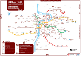 Prague Subway Map by Praguewalker Transport Prague Public Transport