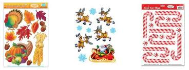 window cling decorations 1 85 per sheet thanksgiving and