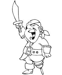 pirate coloring screaming pirate
