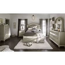 Bedroom Sets With Mirror Headboard Serena Queen Bed Platinum Value City Furniture