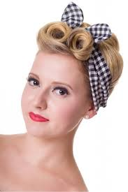1940s hair accessories banned gingham hairband banned glamrock clothing