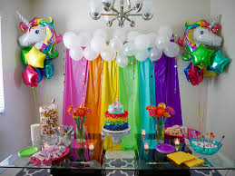 party supply rainbow and unicorn decor for child s birthday party via
