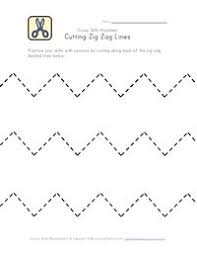 free printable scissor skill worksheets for curved straight wavy