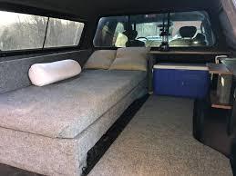 nissan frontier camper shell i love the overall design here where there is the bed couch that