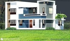 double floor house elevation photos kerala home design com square feet double floor white modern home