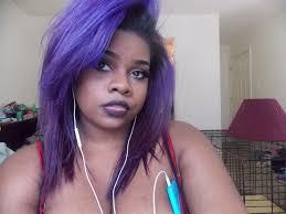 purple hair on african american women is beautiful