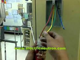 how to install 200 vac 3 phase socket outlet wmv youtube