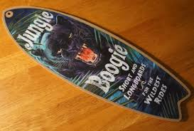 boogie panther surfboard beach surf surfing longboard home decor
