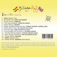 bilinguasing music cd songs in spanish for babies u0026 preschool