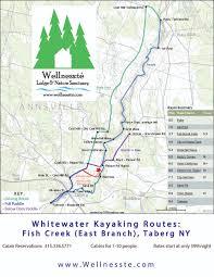 Kayak Map Cny Whitewater River Kayaking On Fish Creek At Wellness Te