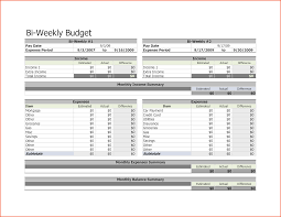 Weekly Expenses Spreadsheet Bi Weekly Budget Templatememo Templates Word Memo Templates Word