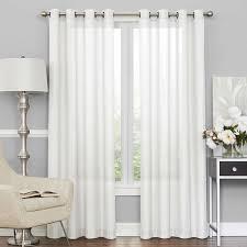Tab Top Sheer Curtain Panels Beachcrest Home Derik Solid Sheer Tab Top Single Curtain Panel