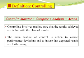 controlling definition project time con trol control monitor compare analysis