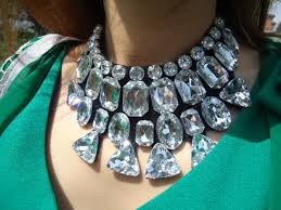 long crystal statement necklace images Statement necklace large crystal gem necklaces luxury metal collar jpg