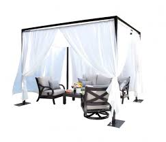 Milano Patio Furniture by Milano Outdoor Cabana 10 Ft Sq Cabana Sunguard Awnings U0026 Patio