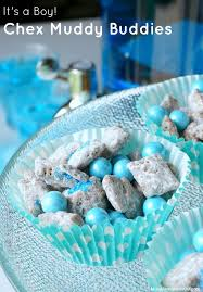 it s a boy baby shower ideas chex muddy buddies recipe for a baby shower pink blue chex