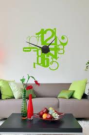 horloges cuisine sticker horloge murale fantaisie mécanisme horloge karlsson