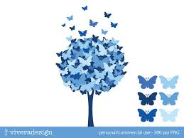 butterfly tree digital clip blue waters