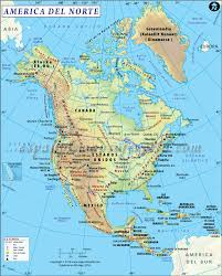 Physical Map North America by America Del Norte Buscar Con Google Paises Pinterest
