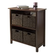 Etagere Antique Amazon Com Winsome Wood Milan Wood 3 Tier Open Cabinet In Antique