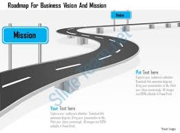 roadmap for business vision and mission powerpoint template