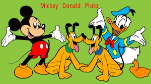 mickey mouse donald duck pluto coloring page fun coloring